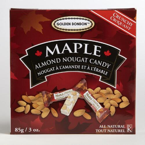 Golden Bonbon Crunchy Maple Almond Nougat Candy
