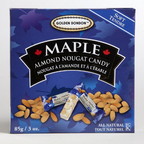 Golden Bonbon Soft Maple Almond Nougat Candy