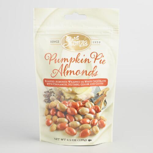 Sconza Pumpkin Pie Almonds, Set of 2
