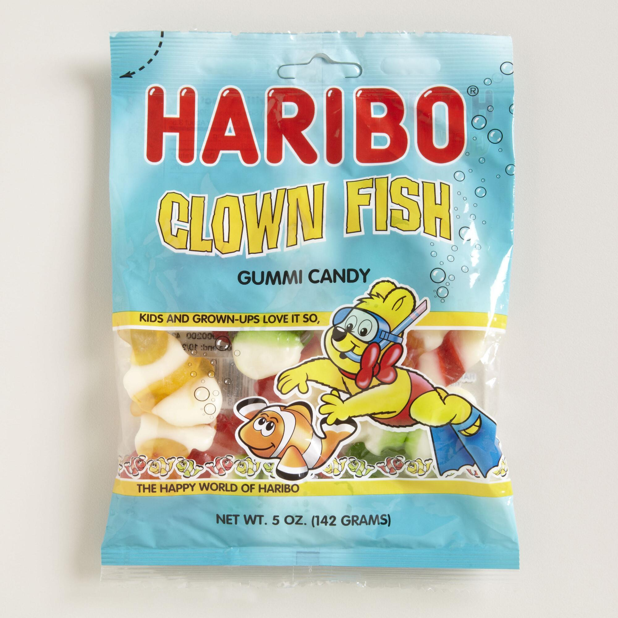Haribo clown fish gummi candy set of 12 world market for Gummy fish candy