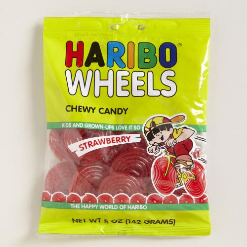 Haribo Strawberry Wheels 5 oz., Set of 12