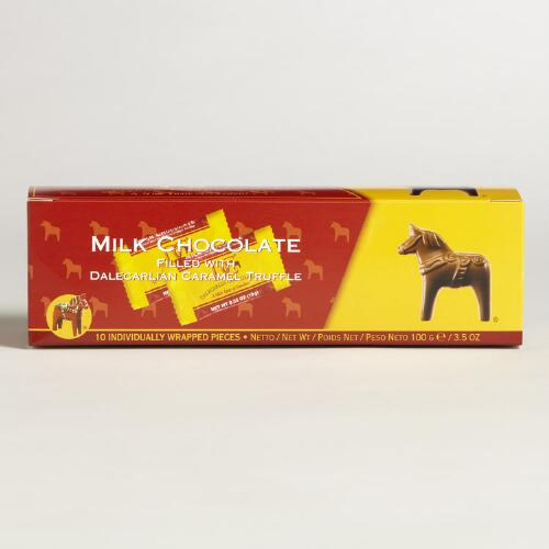 Dalecarlia Chocolate Horses filled with Caramel Truffle