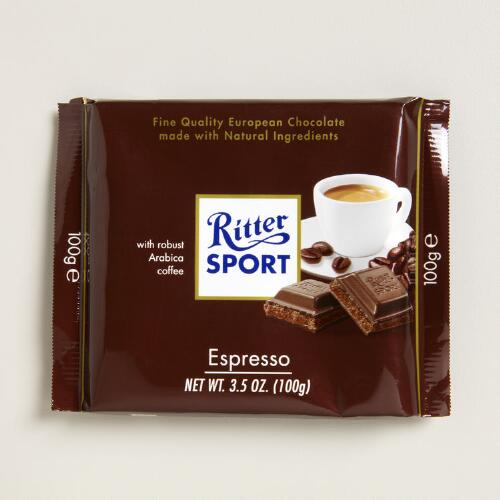 Ritter Sport Espresso Chocolate Bar, Set of 12