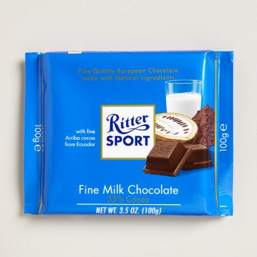 Ritter Sport Fine Milk Chocolate Bar, Set of 12