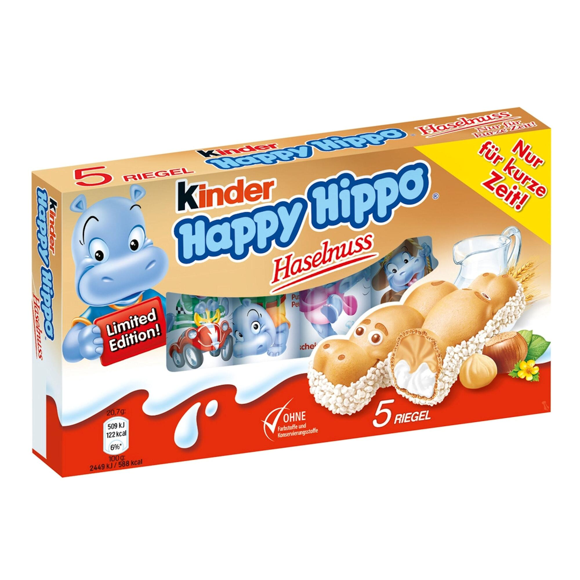 kinder happy hippo hazelnut biscuit 5 pack set of 5. Black Bedroom Furniture Sets. Home Design Ideas