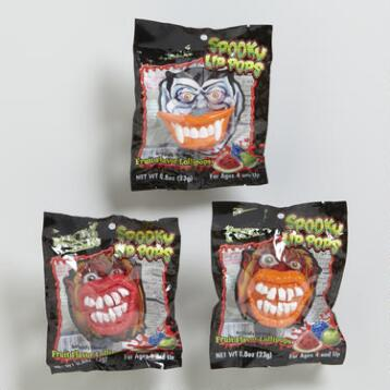 Spooky Lip Pop Lollipop, Set of 4
