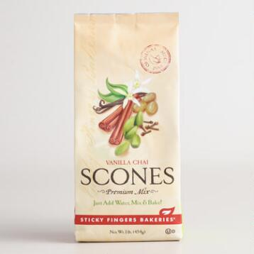 Sticky Fingers Bakeries Vanilla Chai Scone Mix, Set of 6