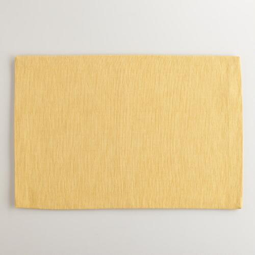 Ochre Khadi Placemats, Set of 4