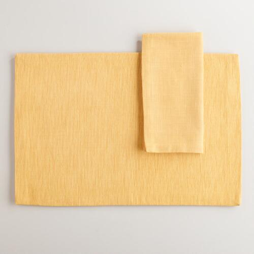 Ochre Khadi Table Linens Collection