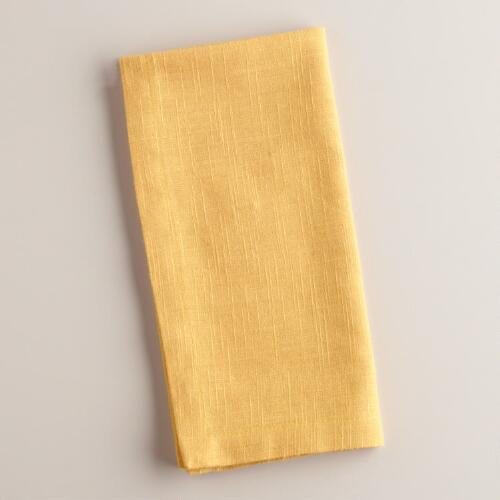 Ochre Khadi Napkins, Set of 4