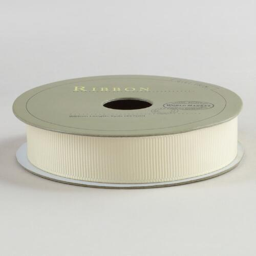 Grosgrain Ivory Ribbon