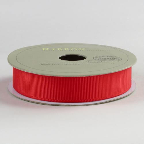 5/8 Inch Poppy Grosgrain Ribbon