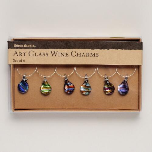 Venice Wine Charms, Set of 6