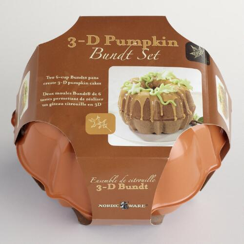 Nordic Ware 3-D Pumpkin Bundt Pan Set