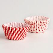 Peppermint Cupcake Liners