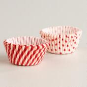 Peppermint Mini Cupcake Liners