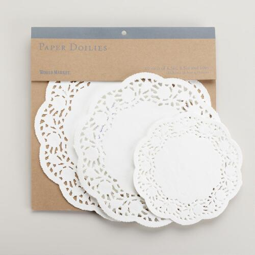 White Paper Doilies, Set of 30