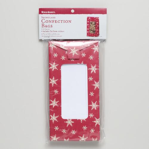 Snowflake Confectionery Bags, Set of 5