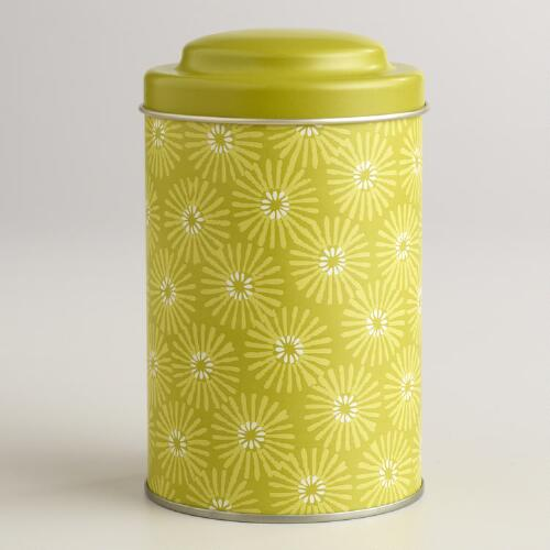 Green Starflower Tea Tin