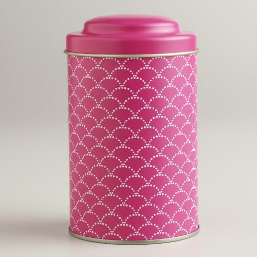 Pink Wave Tea Tin