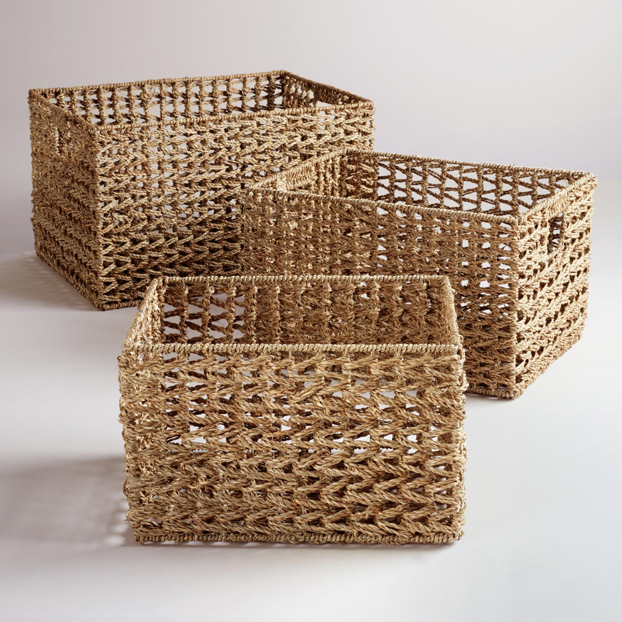 Basket Weaving At Home : Seagrass v weave baskets world market