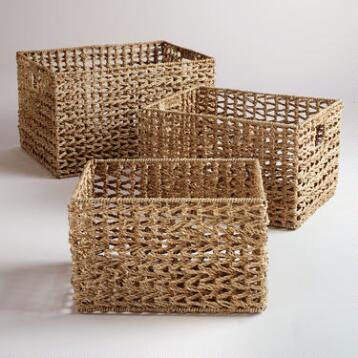 Seagrass V-Weave Baskets