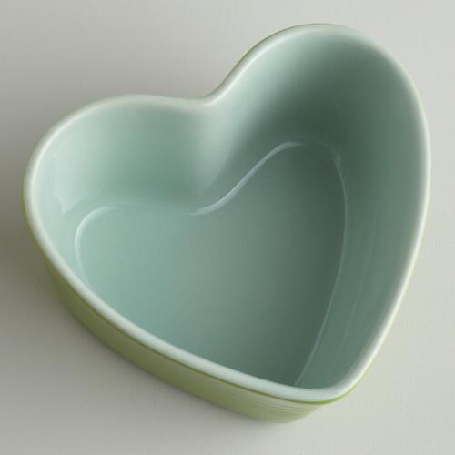 Green Heart-Shaped Ramekin