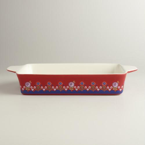 Red Large Rectangular Alpine Baker