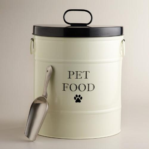 Pet Food Canister with Scoop