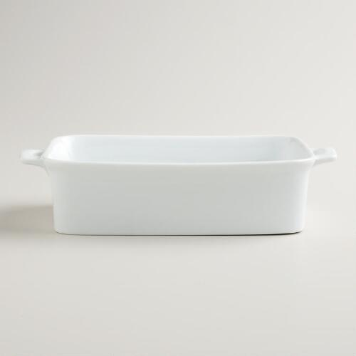 White Rectangular Mini Baker