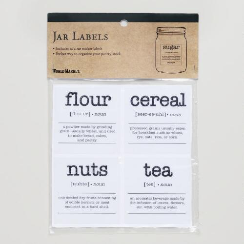 Jar Labels, Set of 12
