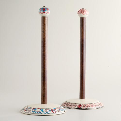 Ceramic Paper Towel Holder, Set of 2