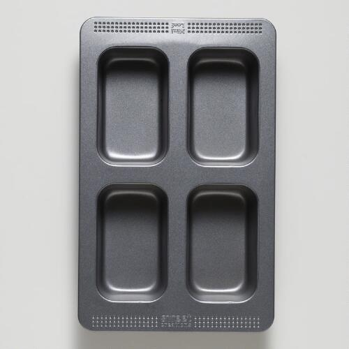 4-Cavity Mini Loaf Pan