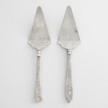 Vintage-Style Pie Servers, Set of 2