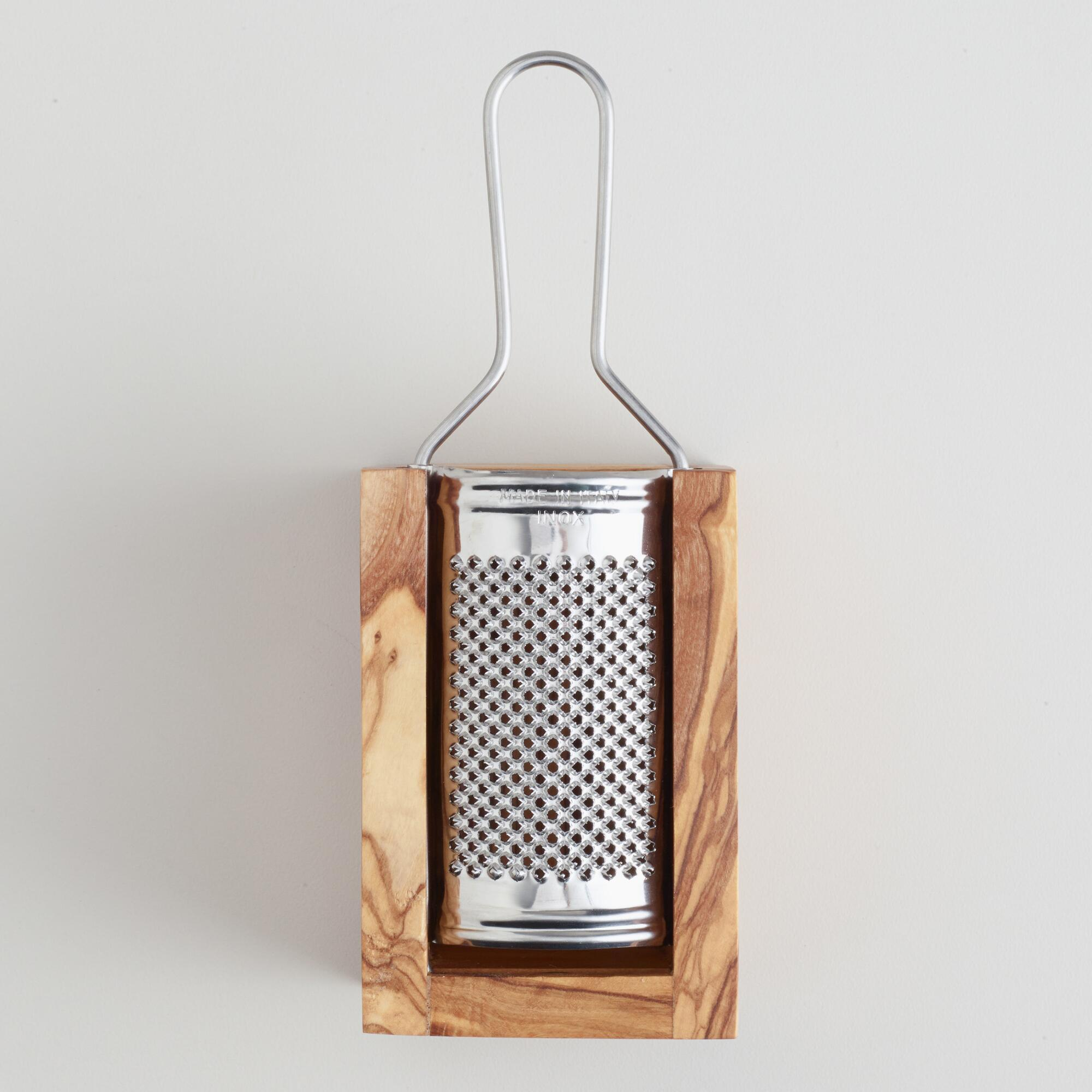 World Market Olivewood Cheese Grater