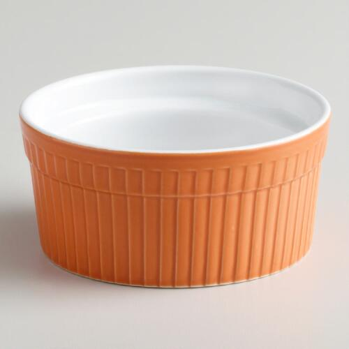 Orange Soufflé Ramekins, Set of 4