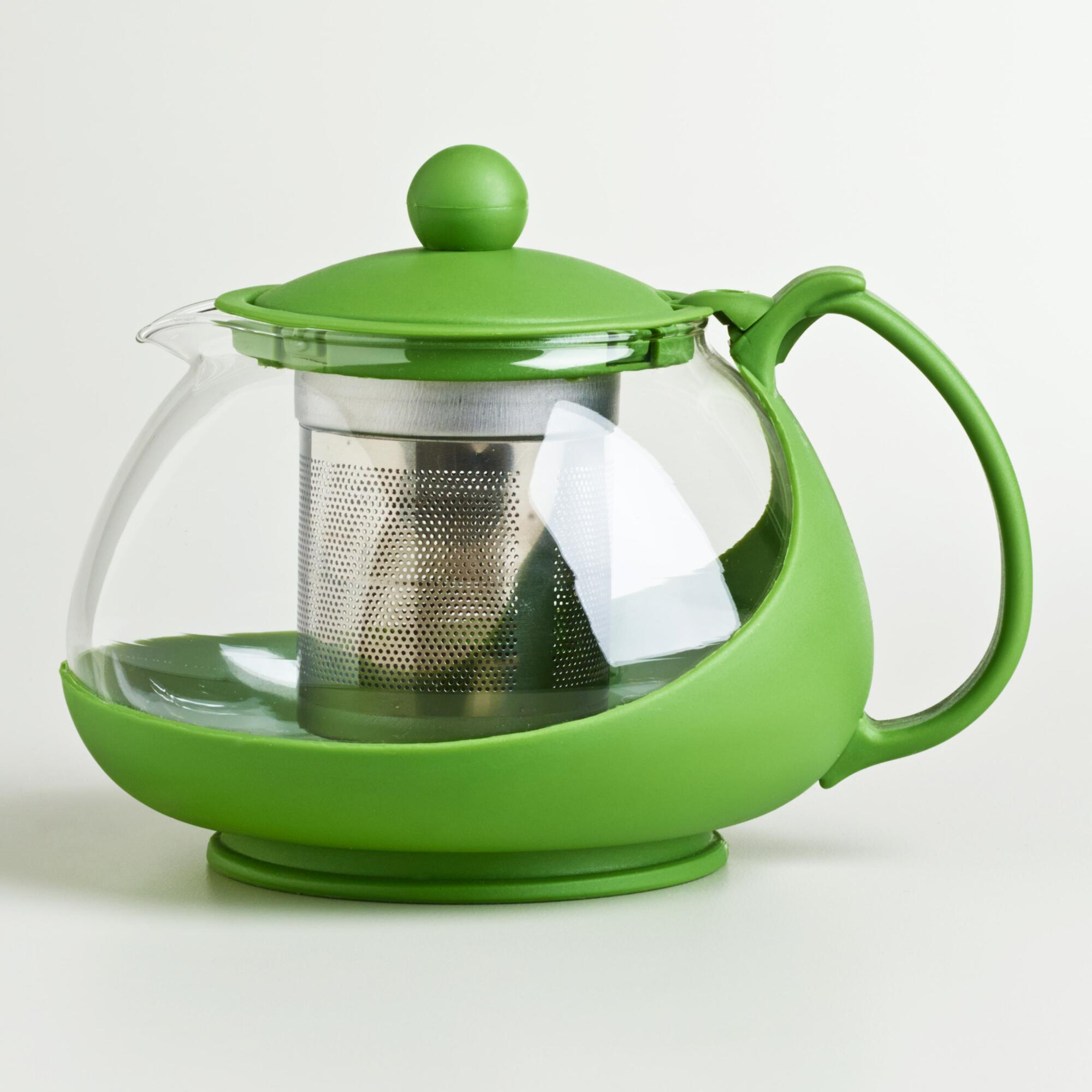 Green Glass Infuser Teapot World Market