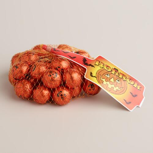 Laica Mesh Bag of Milk Chocolate Pumpkins, Set of 8