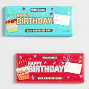 World Market® Milk Chocolate Birthday Bar, Set of 2