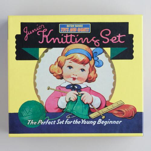 Retro Junior Knitting Kit