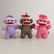 Knit Baby Sock Monkeys, Set of 3