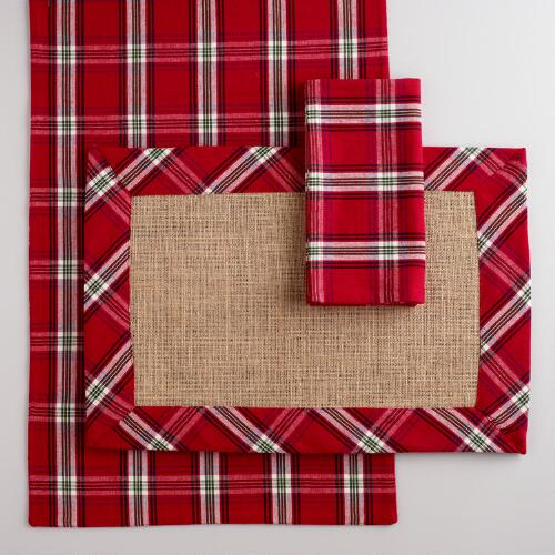 Plaid Table Linens Collection