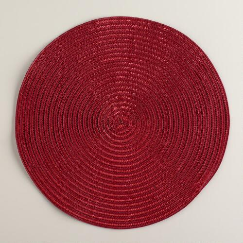 Red Glitter Placemats, Set of 4