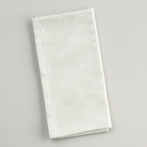 Metallic Printed Napkins, Set of 4