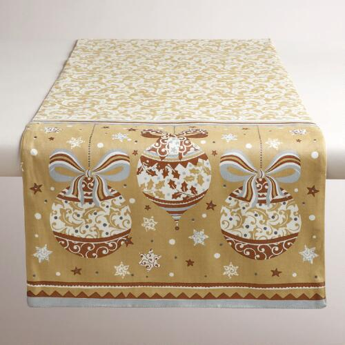 Sateen Ornament Table Runner