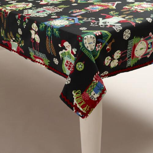 Alpine Clock Tablecloth