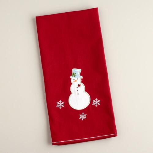 Snowman Baker Kitchen Towel