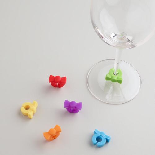 Bow Tie Glass Markers, Set of 6