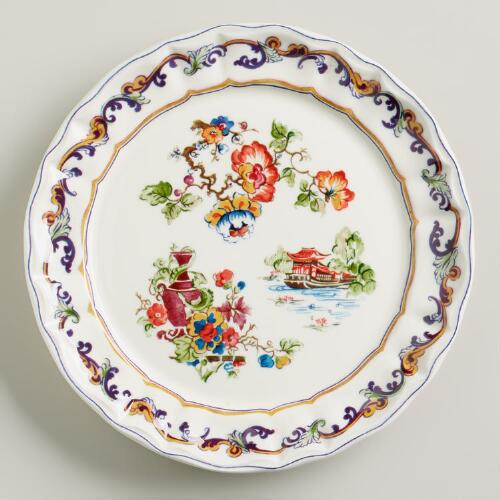 Claudette Chinois Salad Plates, Set of 2