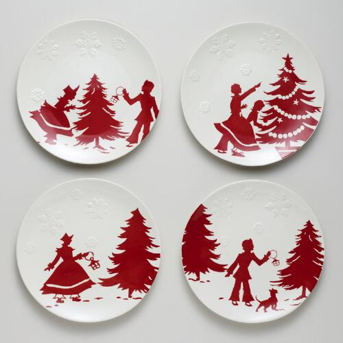Yuletide Plates, Set of 4